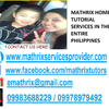 Mathrix tutors Algebra 3/4 in Calamba, Philippines